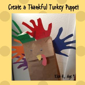 Create a Thankful Turkey Puppet