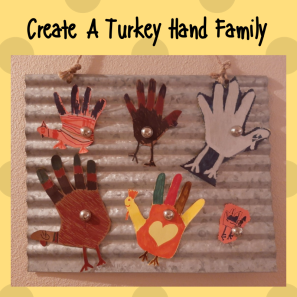 Create A Turkey Hand Family SM Post