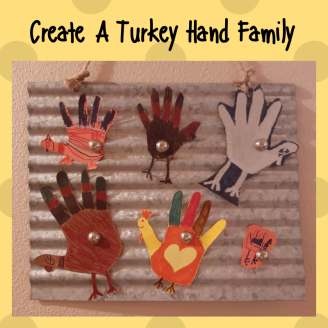 Create A Turkey Hand Family SM Post