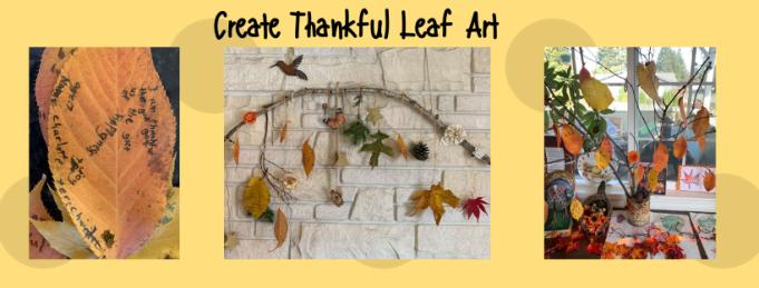 Create Thankful Leaf Art Website