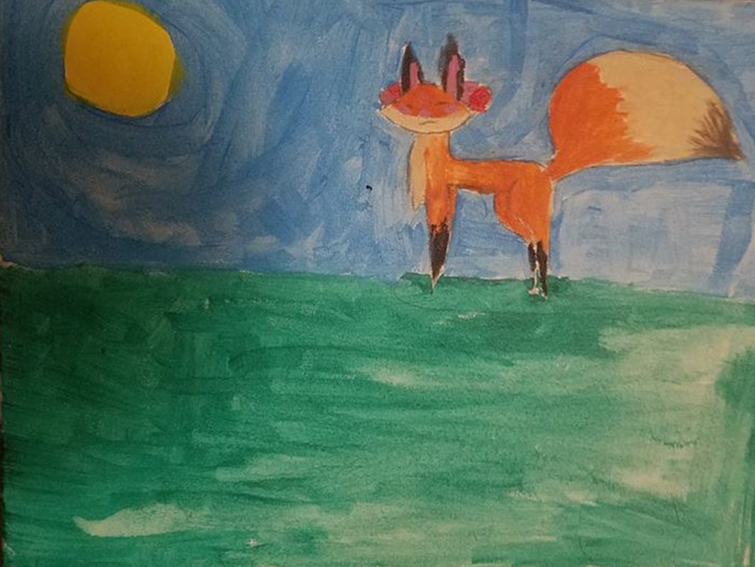 Riley's Fox Painting